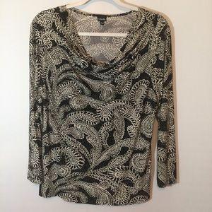 Rafaella Cowl Neck blouse. Sz L.